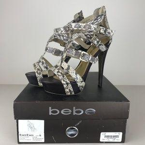 Bebe Snakeskin Heels 'Elyse' Size 6